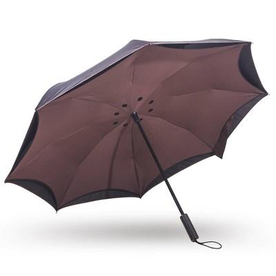 汽车反向伞双层创意个性长柄反骨反开雨伞