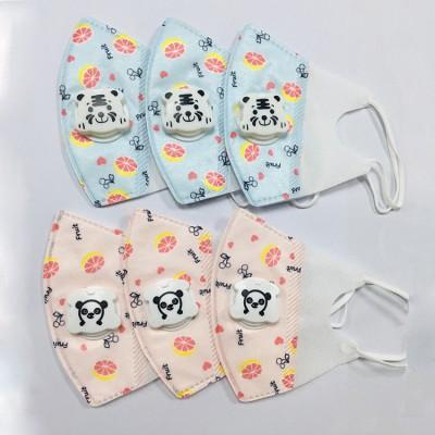 厂家直销KN95儿童口罩 防尘防护 卡通水果图案