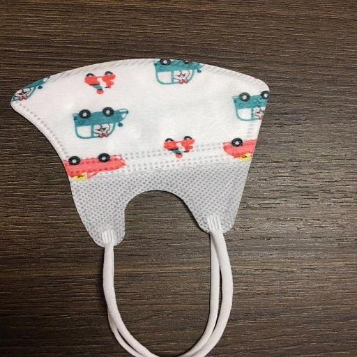 婴儿儿童一次性口罩3D立体夏季宝宝卡通印花折叠无纺布口罩