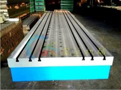 加工定制铸铁T型槽平板平台_焊接铸铁平板规格_划线焊接